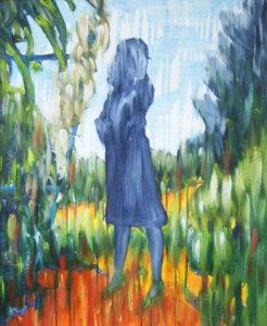 Aymeric Dechamps AyDe - Femme au jardin