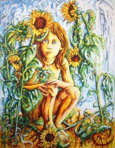 Jeune fille aux soleils - Aymeric Dechamps
