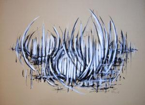Paysage 3 - Encre - 50/70 cm - Aymeric Dechamps
